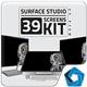 Surface Studio Kit Mockup - GraphicRiver Item for Sale