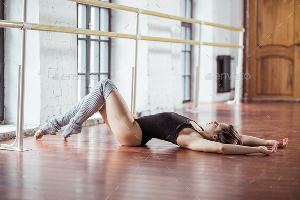 Young attractive dancer indoors - Stock Photo - Images