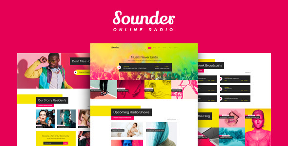 Image of Sounder | Online Radio WordPress Theme