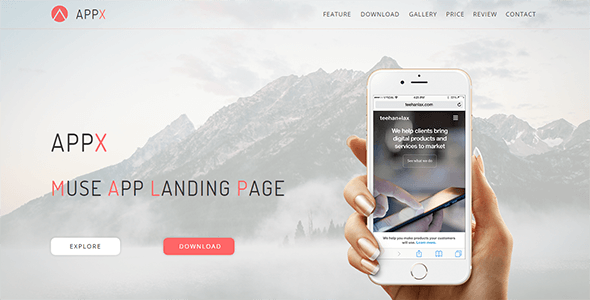 Appx_Muse App Landing Page - Landing Muse Templates