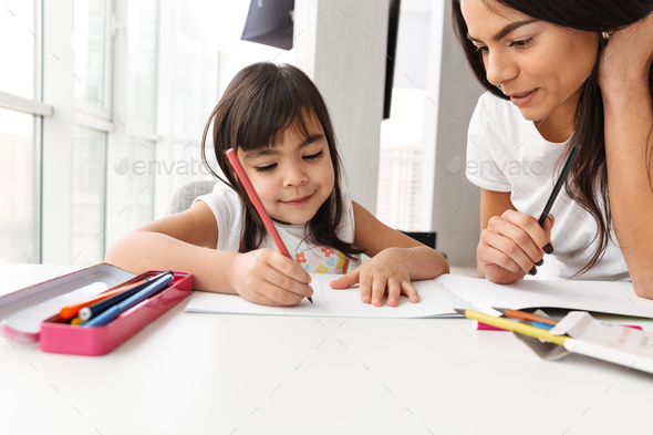 Image of satisfied people woman and child enjoying day together - Stock Photo - Images