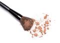 Crushed bronzing powder with makeup brush - PhotoDune Item for Sale