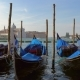 Traditional Gondolas on Canal Grande in Venice