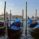 Traditional Gondolas on Canal Grande in Venice