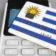 Payment Terminal with Credit Card Featuring Flag of Uruguay - VideoHive Item for Sale