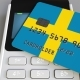 Payment Terminal with Credit Card Featuring Flag of Sweden - VideoHive Item for Sale