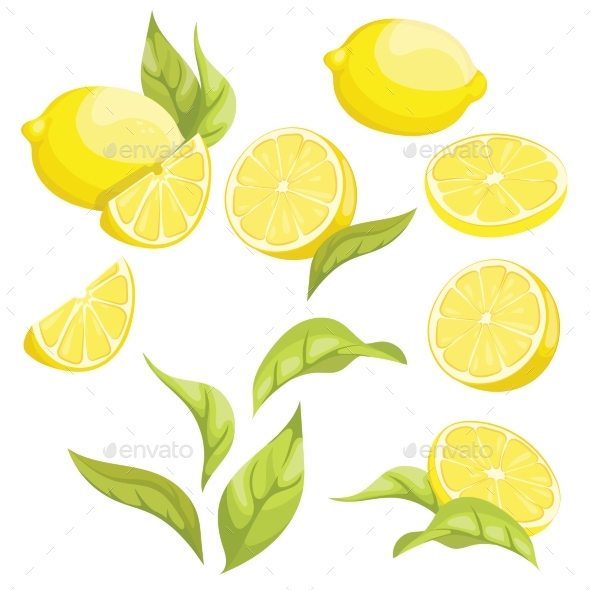 Set of Lemons - Food Objects