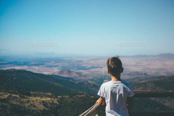 Child looking the view - Stock Photo - Images