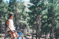 Girl with bicycle at the mountain - PhotoDune Item for Sale