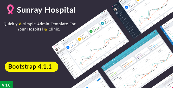 Image of Sunray - Bootstrap 4 Medical Admin Dashboard Template For Hospital & Clinics