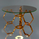 Honeycomb Glass Side Table