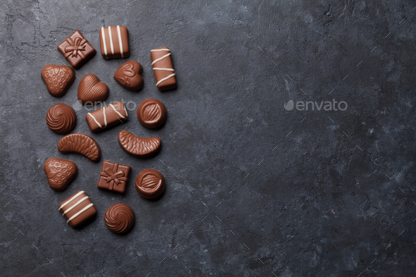 Chocolate sweets - Stock Photo - Images