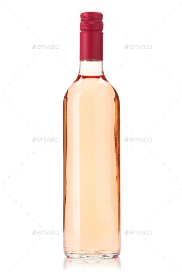 Rose wine bottle - Stock Photo - Images