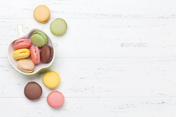 Colorful macaroons - Stock Photo - Images