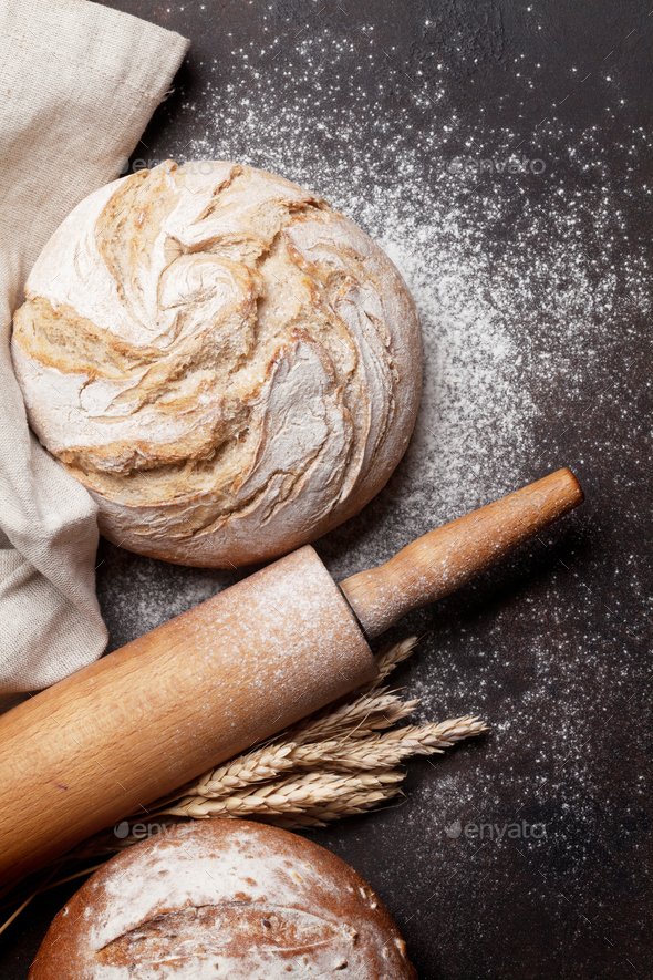 Homemade crusty bread - Stock Photo - Images