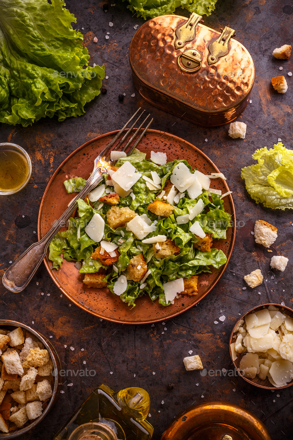 Caesar salad - Stock Photo - Images