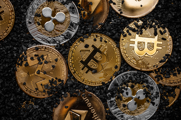 Cryptocurrencies new digital money - Stock Photo - Images