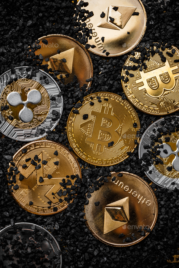Set of cryptocurrencies - Stock Photo - Images