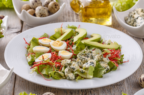 Salad with avocado - Stock Photo - Images