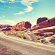 Deserted road, Valley of Fire, Nevada, USA. - PhotoDune Item for Sale