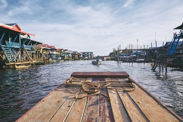 Floating village in Cambodia - Stock Photo - Images