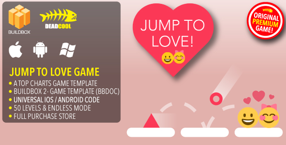 Jump To Love - BuildBox 2 Game Template Document - iOS / Android / BBDOC            Nulled