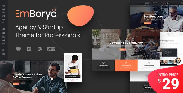 emboryo | agency & startup wordpress theme for professionals (corporate) EmBoryo | Agency & Startup WordPress Theme for Professionals (Corporate) 01 preview