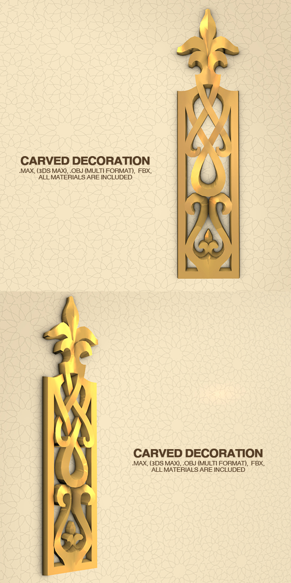 Carved Decoration - 3DOcean Item for Sale