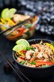 Delicious asian rice glass noodles with prawns and vegetables  ( - PhotoDune Item for Sale