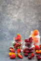 Fresh ripe summer cherry, strawberry and apricots - PhotoDune Item for Sale