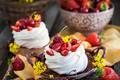 Delicious mini Pavlova meringue cake decorated with fresh berrie - PhotoDune Item for Sale