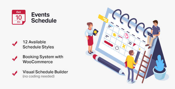 Events Schedule - WordPress Events Calendar Plugin Nulled