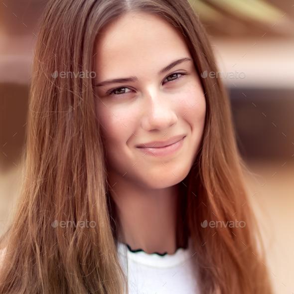 Authentic girls portrait - Stock Photo - Images
