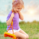 Cute baby girl on the swing - PhotoDune Item for Sale