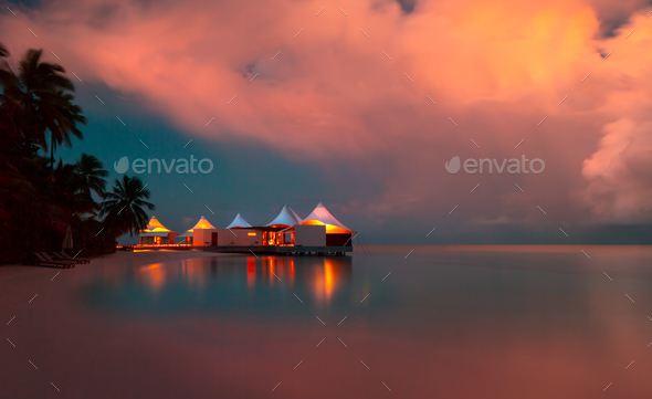 Romantic beach landscape - Stock Photo - Images