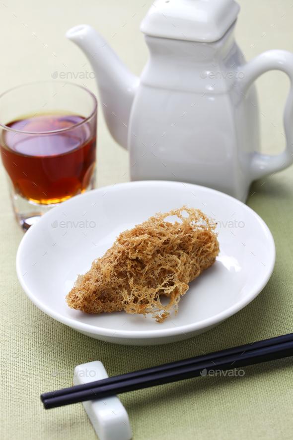 deep fried honeycomb taro dumplings - Stock Photo - Images