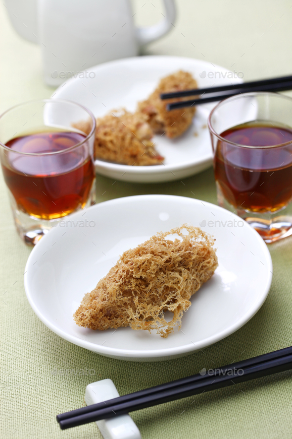 deep fried honeycomb taro dumplings - Stock Photo - Images
