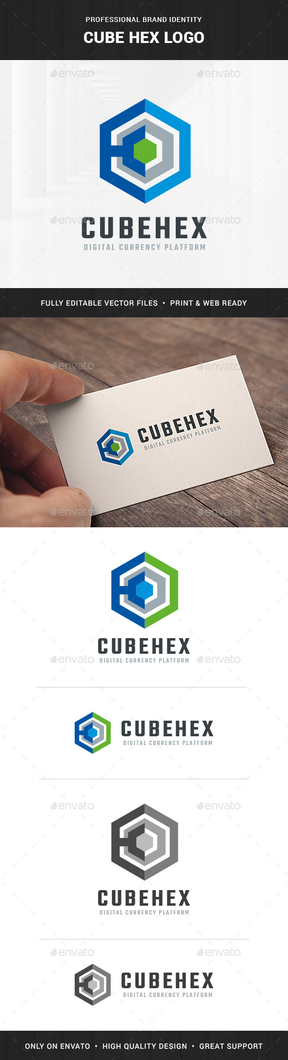 Cube Hex Logo Template - Abstract Logo Templates