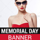 Memorial Day Sale Banner - GraphicRiver Item for Sale