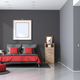 Red and black modern master bedroom - PhotoDune Item for Sale