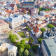 Top view on the old town with beautiful colorful buildings in Riga city - PhotoDune Item for Sale
