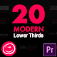 Modern Lower Thirds For Premiere Pro - VideoHive Item for Sale