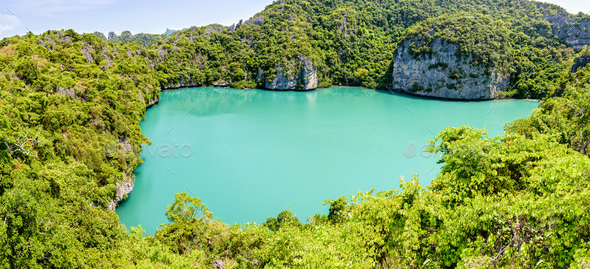 Panorama Thale Nai, Blue Lagoon (Emerald Lake) - Stock Photo - Images