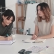 Seamstresses Discuss Busy Business Planning for Their Small Startup Atelier
