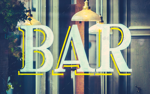 Urban Bar Sign - Stock Photo - Images