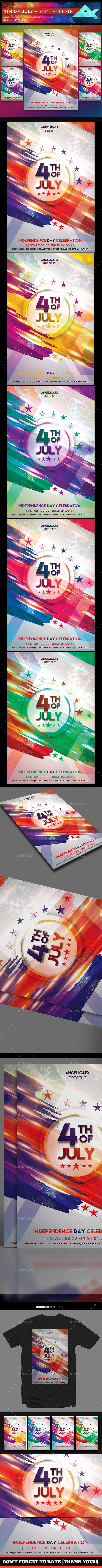 4th of July Photoshop Flyer Template - Holidays Events