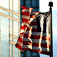 Cinematic United States Flag Waving on Chicago at Sunset - VideoHive Item for Sale