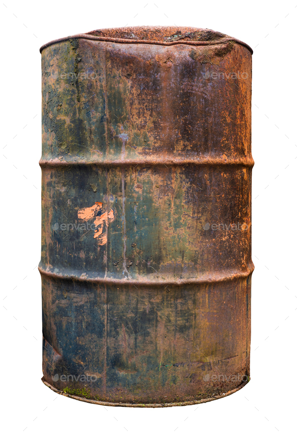 Isolated Rusty Old Barrel - Stock Photo - Images