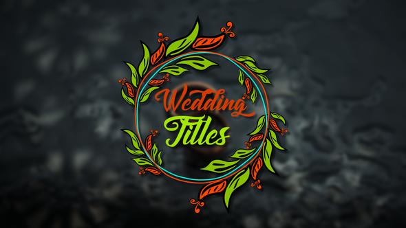 Wedding Titles | MOGRT - Hàng bản quyền - 21961023
