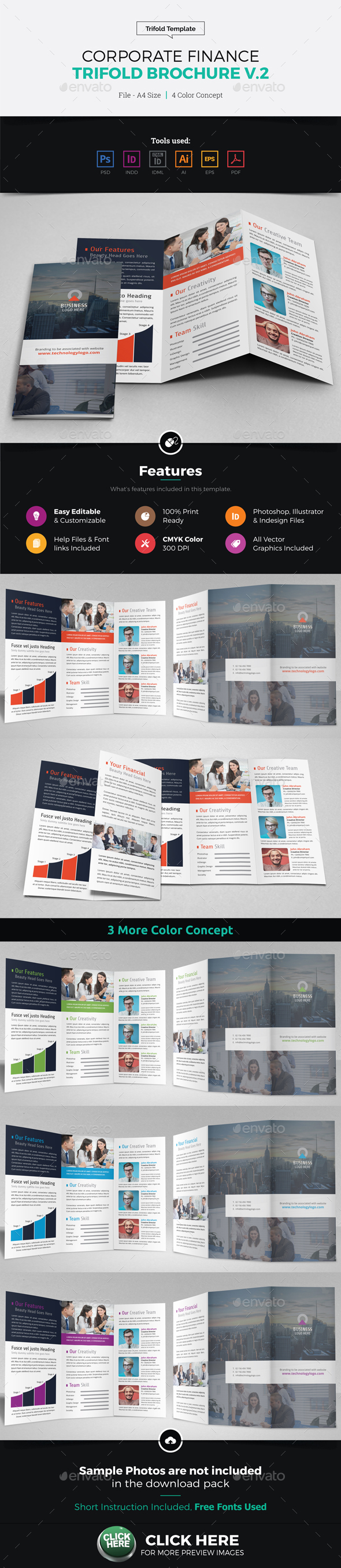 Corporate Finance Trifold Brochure v2 - Corporate Brochures